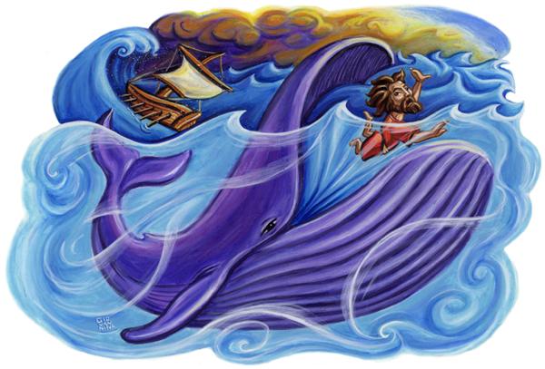 Jonah in the fish